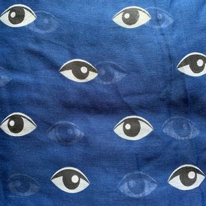 "Accessories - Large Blue ""Evil Eye"" Scarf"